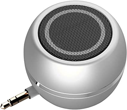 Rumfo Mini Phone Speaker Portable Wireless Plug in Speaker with 8.8mm Aux  Audio Jack Rechargeable Plug and Play Clear Bass Speaker Universal for Cell