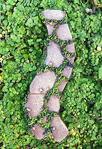 My Fairy Gardens Miniature - Mini Resin Curved Moss & Stone Path Walkway - Mini Dollhouse Supply Expressions (Curved Walkway)