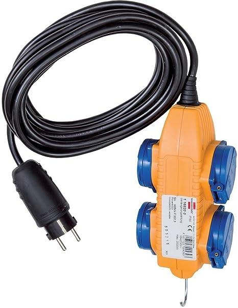 Baustellenkabel Baustellen Kabel Verlängerung 4 fach Powerblock IP44 10 Meter