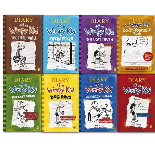 More products by jeff kinney read reviews and compare diary wimpy kid 1 8 complete solutioingenieria Images