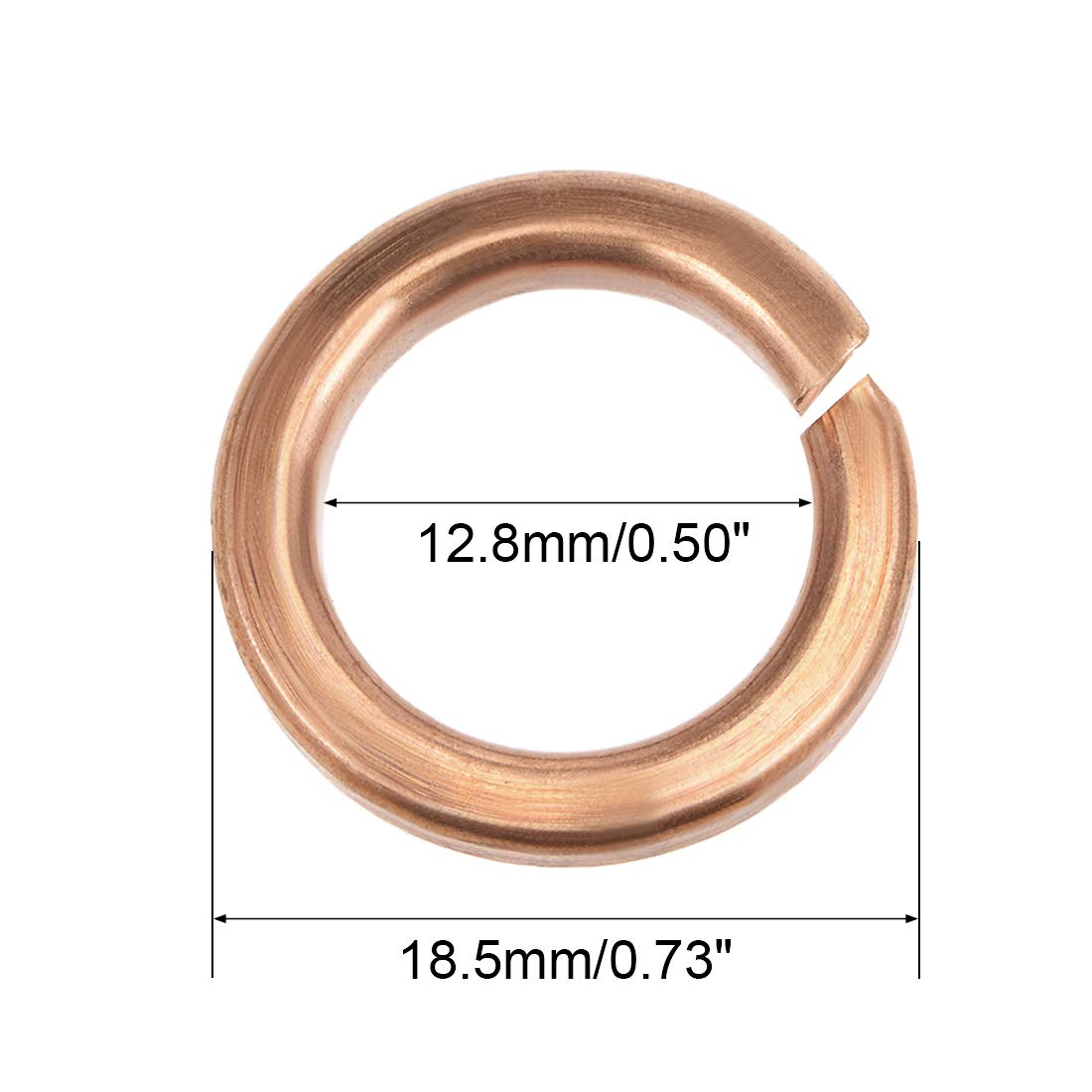 uxcell 2Pcs 48.5mm x 58mm x 2mm Copper Flat Washer for Screw Bolt