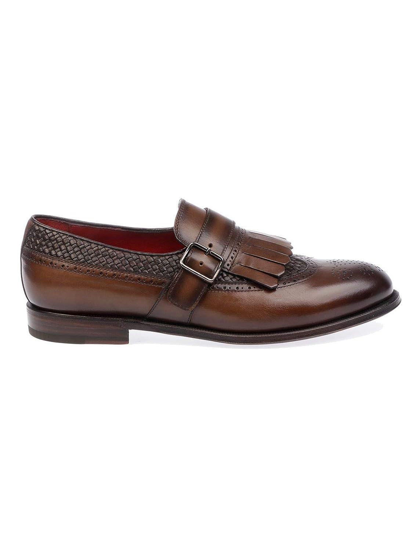 Barrett 181U081 - Hauszapatos de Piel para Hombre, Color marrón