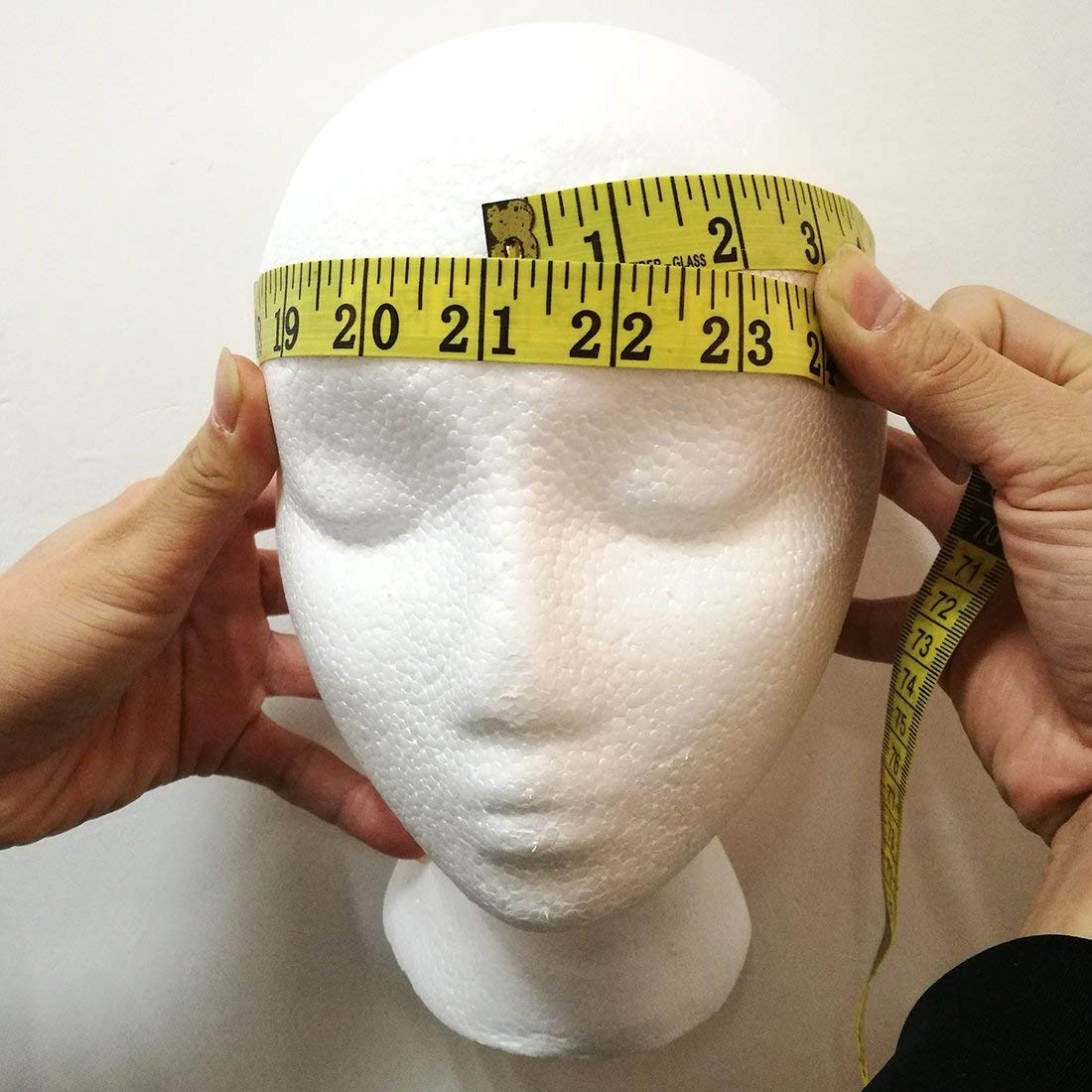 Amazon.com: Female Styrofoam Mannequin Head Model - Wig/Hat Display Stand - Art Work Painting Novelty - Foam White by LIAMTU: Beauty