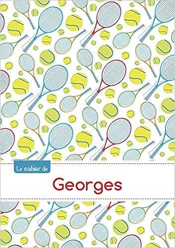 En ligne téléchargement Le cahier de Georges - Petits carreaux, 96p, A5 - Tennis pdf epub