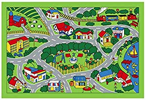 Amazon Com City Map Children Area Rug 39 Quot X58 Quot Toys Amp Games