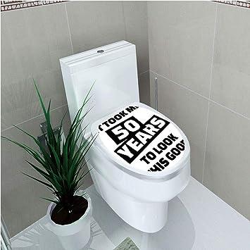 Amazon.com: Aplique para inodoro, decoración de 50 ...