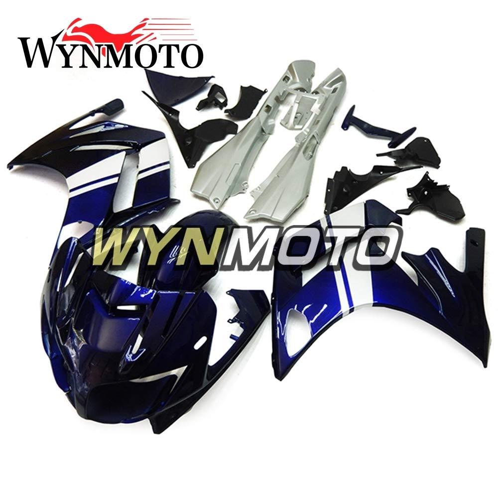 WYNMOTO 外装パーツセット対応ヤマハ FJR1300 2007 2008 2009 2010 2011 年シルバーブルーとブラックボディの新カウ   B075TWYPDV