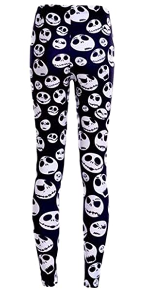 54ef1a6936faa Image Unavailable. Image not available for. Color: Nightmare Before  Christmas Jack Skellington One Size Fits Most Novelty Leggings