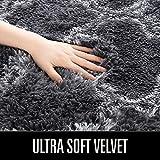 LOCHAS Luxury Velvet Shag Area Rug Modern Indoor