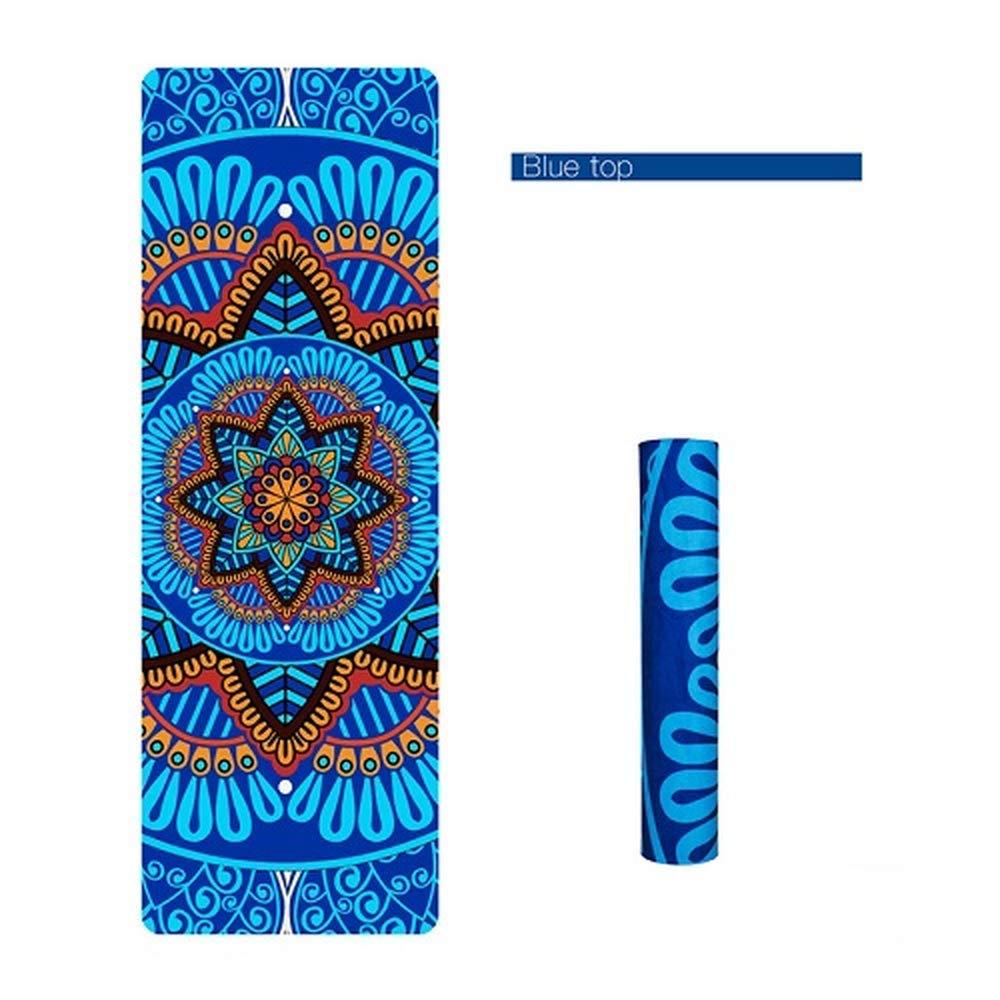 blueee top TYWPYY 5MM NonSlip Yoga Mat Suede Pad Slimming Fitness Mat Exercise Yoga Mats Body Building Esterilla Fitness Pilates Yoga Mat
