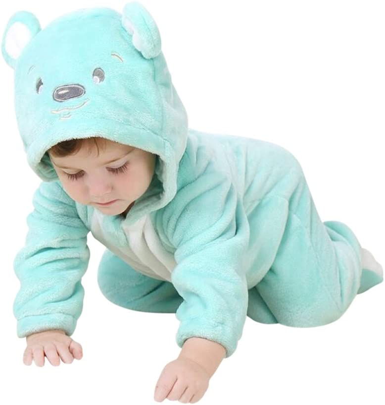 Katara Pijama Bebé Invierno Disfraz Animal (10+ modelos) 12-24 Meses, color oso turquesa, 18-24 (1778-008)