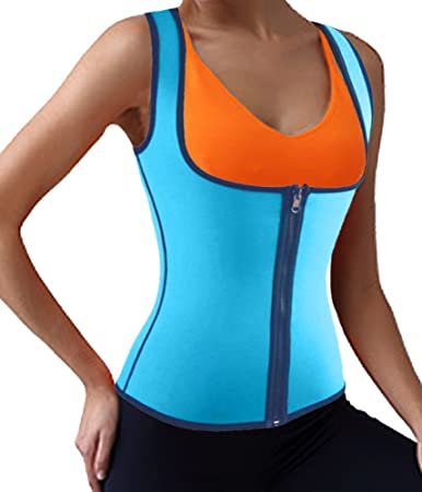 fa0ba09c1138c Image Unavailable. Image not available for. Color  DODOING Slimming  Neoprene Vest Hot Sweat Shirt Body Shapers ...