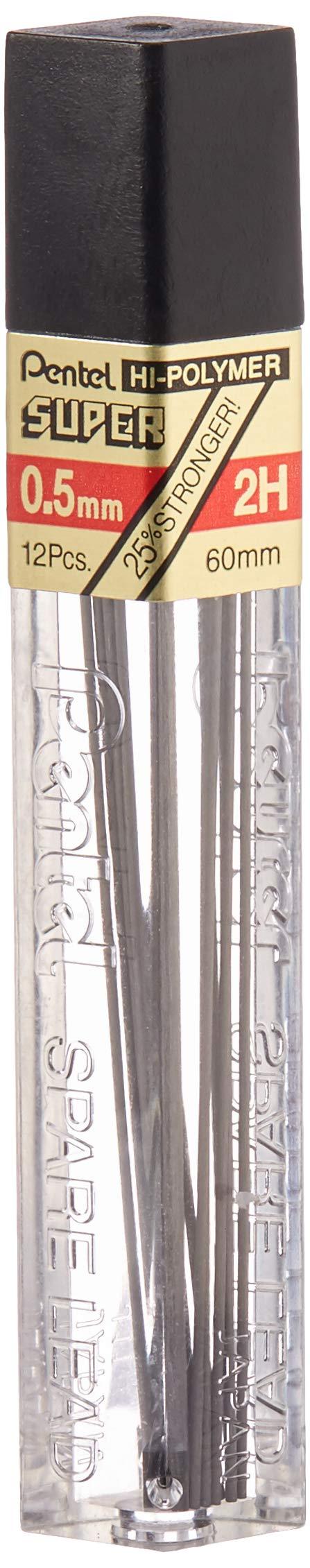 Pentel Super Hi-Polymer 144 Minas (12 Tubos) 0.5mm 2H