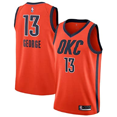 buy popular 54b02 31df3 Majestic Athletic Paul George  13 Oklahoma City Thunder 2018-19 Swingman  Men s Jersey Orange