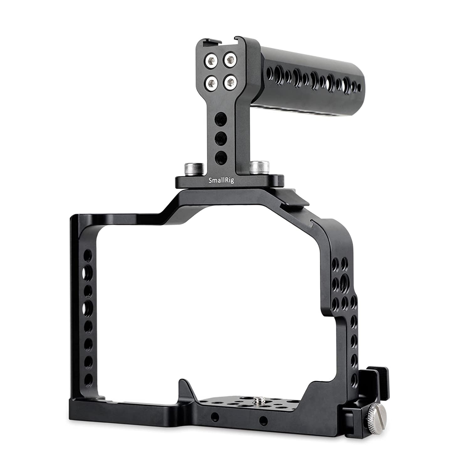 SMALLRIG Top Handle Grip with Locating Point for Arri, Adjustable Camera Handle with Mounting Points, Shoe Mount for Video Camera Cages, LED Lights Microphones- 1984