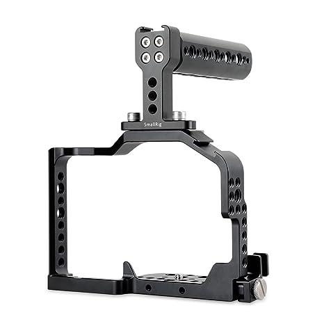 SMALLRIG Jaula GH4 Rig, Cage con Top Handle para y HDMI Lock para ...