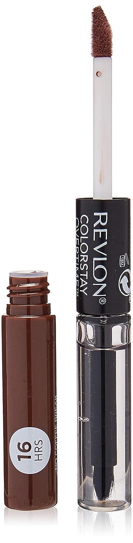 Revlon Colorstay overtime lipcolor, Longwearing Liquid Lipstick with clear lip Gloss, with Vitamin E, In Brown, 570 No Coffee Break, 0.8 Oz