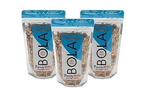 BOLA granola Barely Sweet, Low Sugar, Almond & Pumpkin Seed Granola, 12oz - 3 PACK