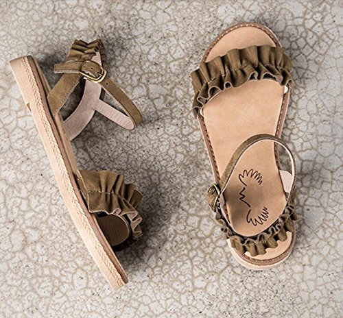 GRRONG Femmes Pantoufles pour l'été New Vintage Sandales Romaines Open Toe Chaussures Plates Occasionnels gT3i7z