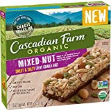 Cascadian Farm Organic Mixed Nut Sweet & Salty Chewy Granola Bars 5-1.2 oz. Bars