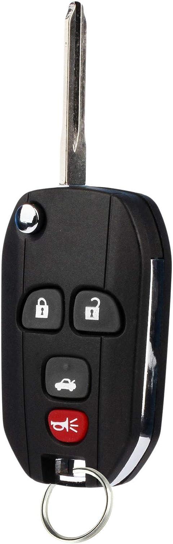 Set of 2 15252034 Flip Key Fob fits 2005-2010 Chevy Pontiac Saturn Keyless Entry Remote