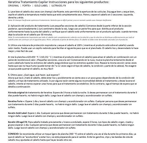 Tratamiento de Keratina Brasilera Profesional. Alisa y Suaviza el Cabello. Set de 4 Botellas por 300 ml kit que incluye Champú y Acondicionador Libre de Sulfatos y Una Peinilla por Keratin Research by KERATIN RESEARCH (Image #6)