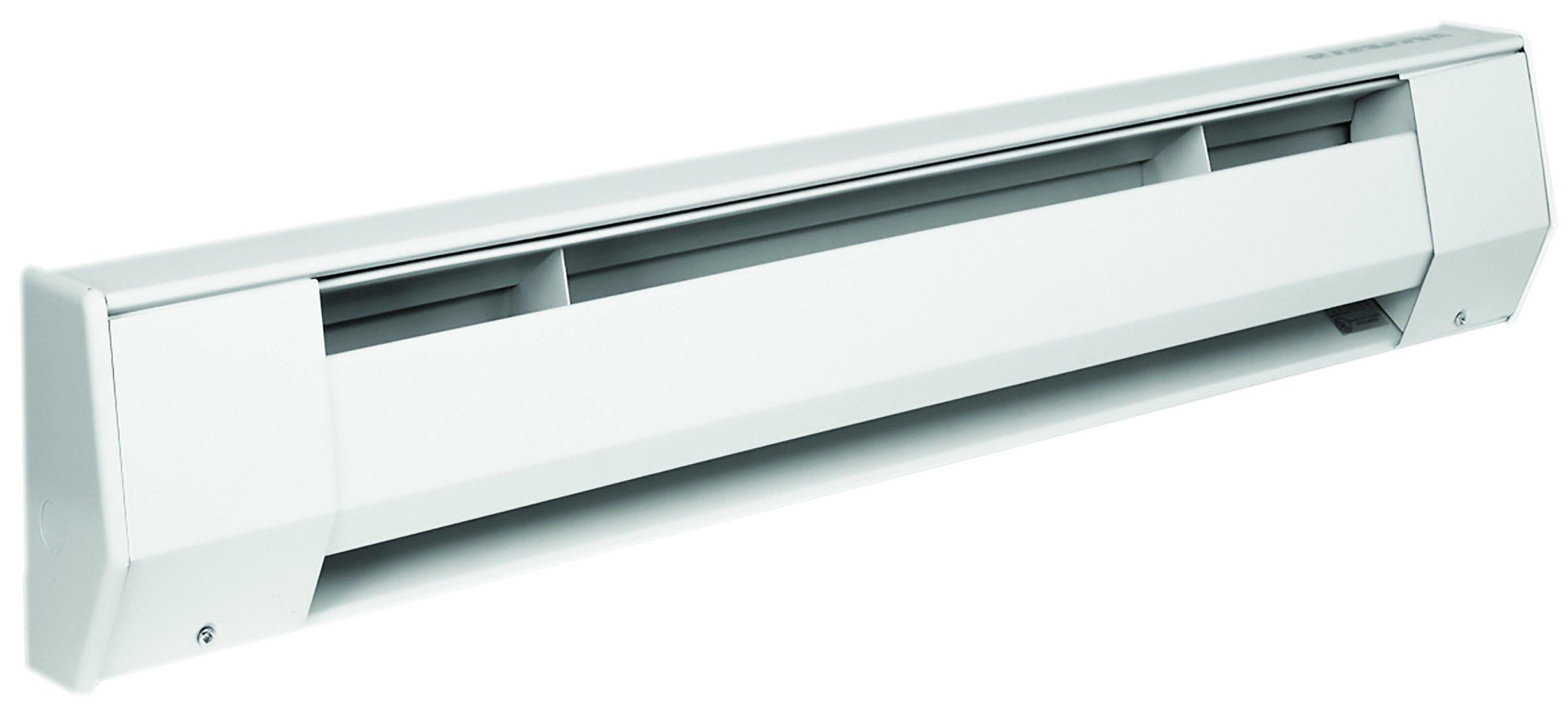 King 6K2415BW 1,500-1,125-Watt 240/208-Volt 6-Foot Baseboard Heater, Bright White