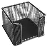 Wholesale CASE of 25 - Lorell Mesh Memo Holder -Memo Holder, 3''x3'', Mesh/Black