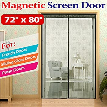 Bug off 72 by 80 instant screen fits some for French door magnetic screen