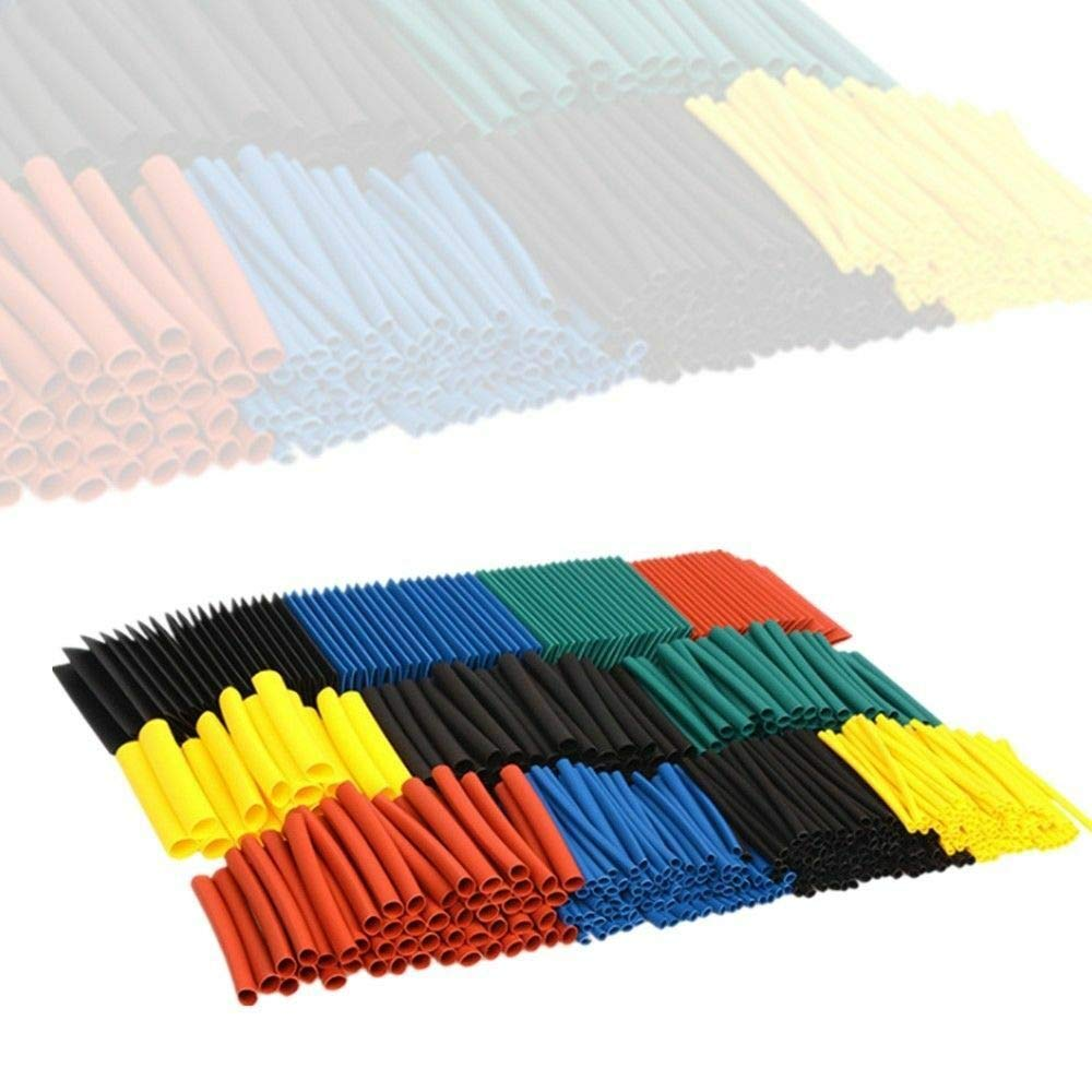 cable retr/áctil para cables de l/ínea de datos DIY 5 colores 1060 tubos termorretr/áctiles 2:1Protecci/ón de aislamiento retardante de llama
