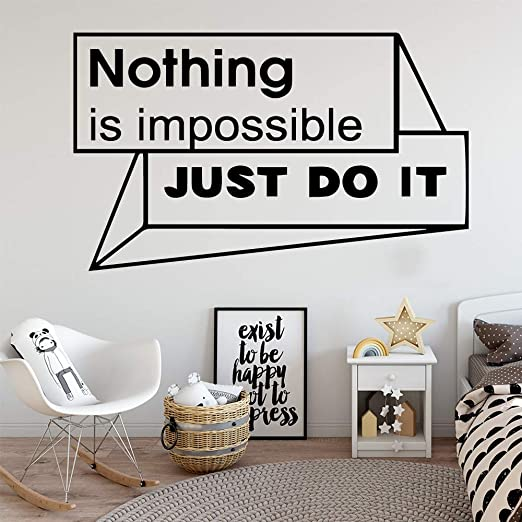 Just Do It Quote Vinyle Autocollant Mural Moderne