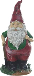 Gnome Resin Statues Polystone Figurine Spring Summer Ornaments for Home and Outdoor Garden Decoration
