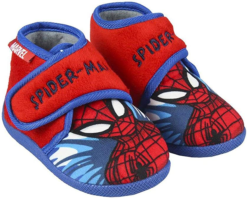 CERD/Á LIFES LITTLE MOMENTS 2300004560/_T025-C06 Zapatillas Casa Spiderman Ni/ño-Licencia Oficial Marvel para Ni/ños Rojo