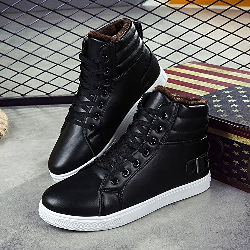 automne hiver fourrure chaussures bottes cheville Martin Covermason doublé Bottes et adulte noir boots Bottes mixte hommes bottes chaud qUvPn8