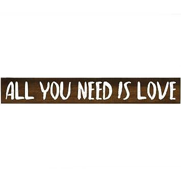 Amazoncom All You Need Is Love Inspirational Pine Block