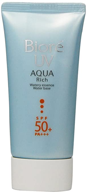 Biore Sarasara Uv Aqua Rich Waterly Essence Sunscreen 50g Spf50+ Pa+++ for Face and Body