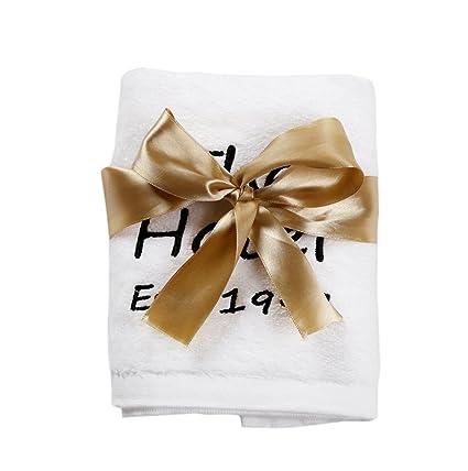 Personalizado Bordado toallas personalizada toallas de mano de toallas de baño de color blanco