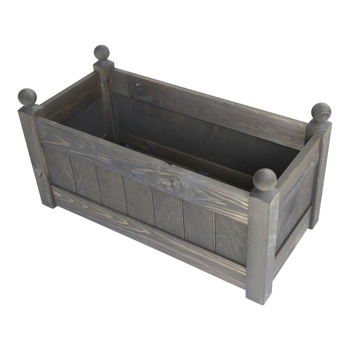 26'' Clarence Classic Chestnut Garden Planter Trough with Plastic Liner