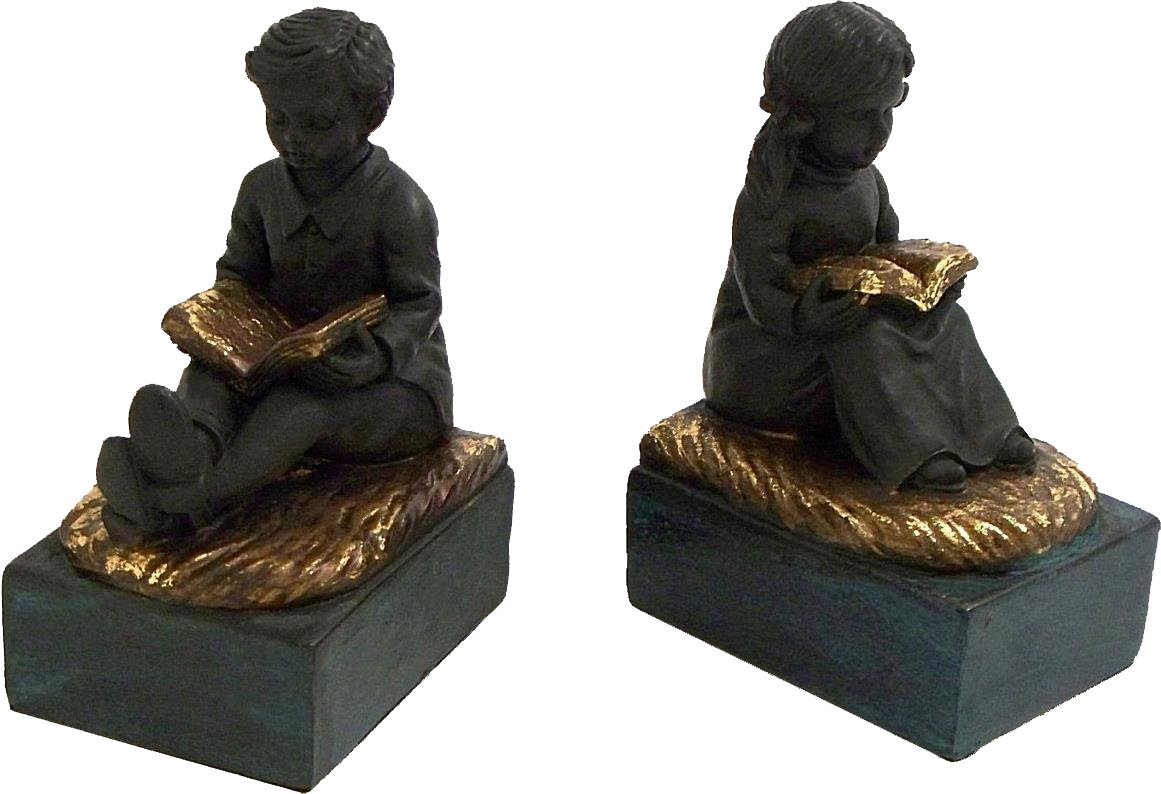 Reading Boy and Girl Bookend by Bey-Berk