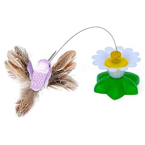 Juguete Giratorio para Gato con Mariposas y Dos Mariposas interactivas, Juguete para Gato (colibrí