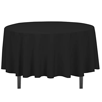 Amazon Com Linentablecloth 90 Inch Round Polyester Tablecloth Black Home Kitchen