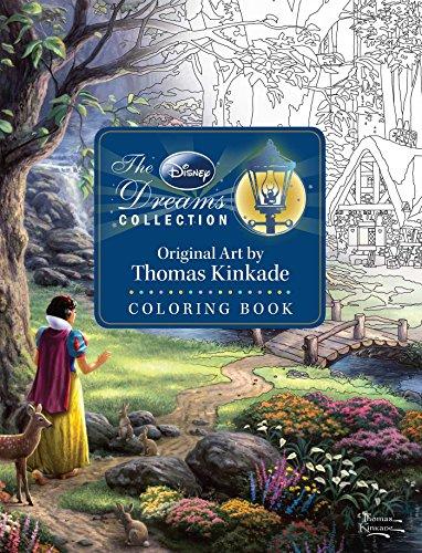 The Disney Dreams Collection Original Art by Thomas Kinkade Coloring Book