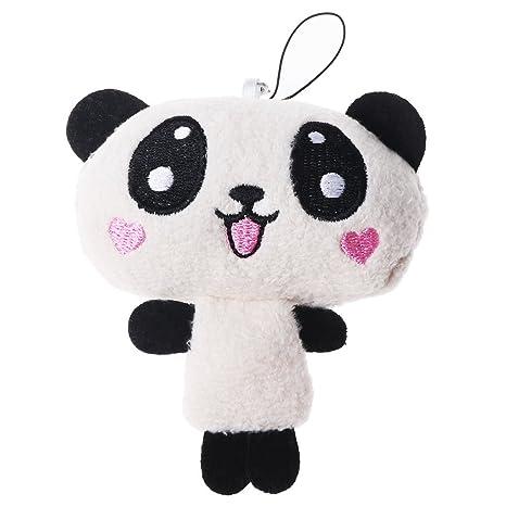 Lamdoo Kawaii Mini Mascota Muñeca de Peluche Panda Papa Oso Colgante Teléfono Móvil Abalorio, Random1