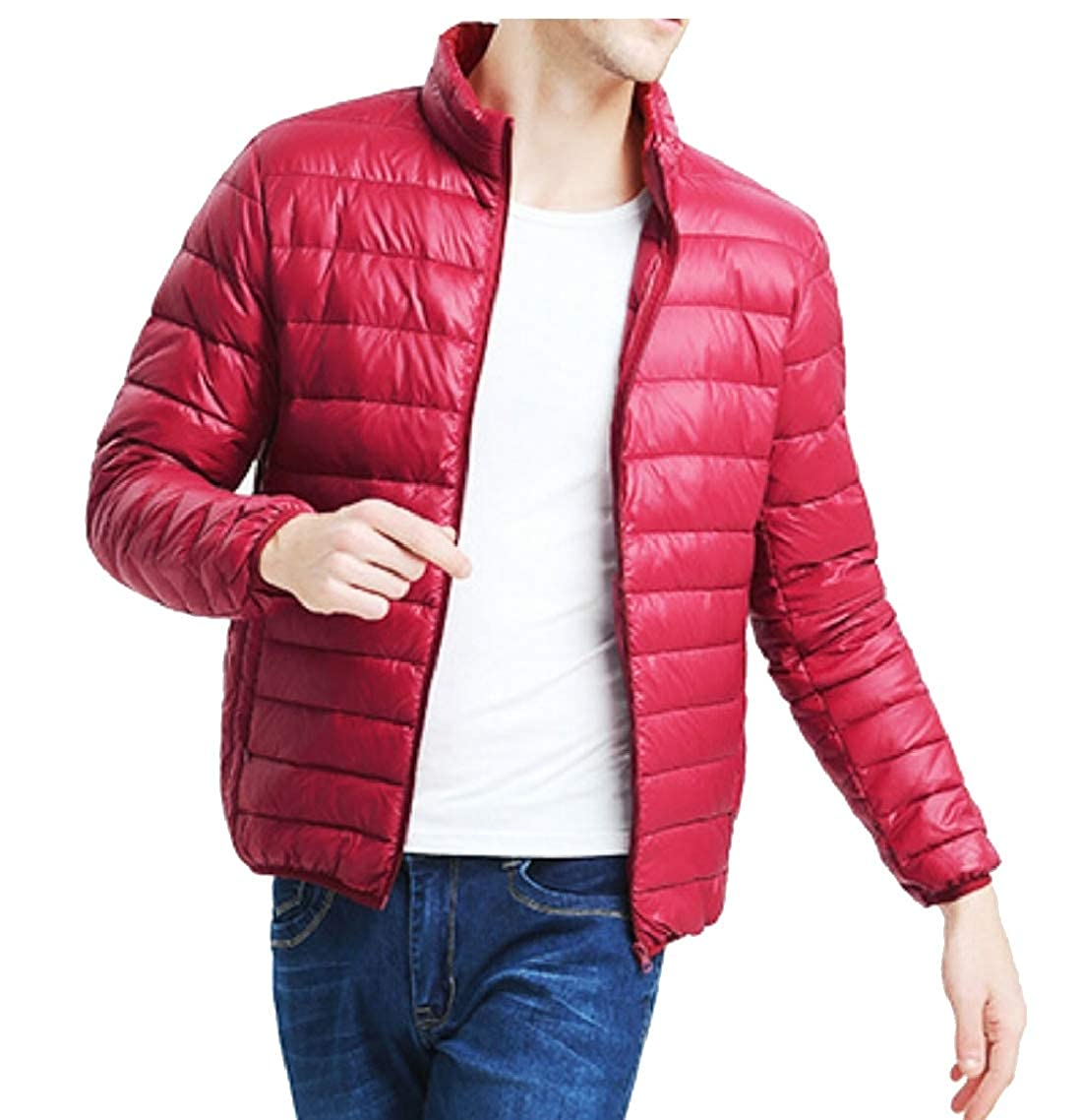 Yayu Mens Classic Outwear Lightweight Quilted Puffer Down Jacket