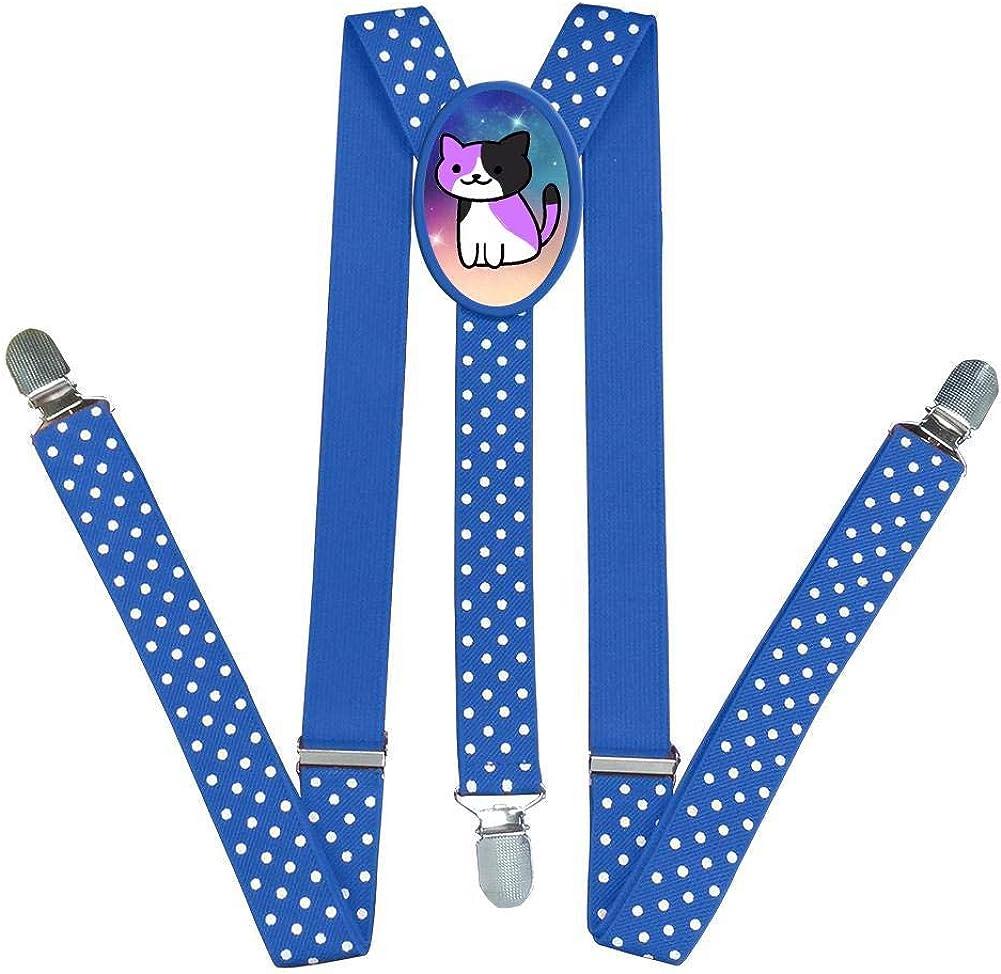 Xiacai Cute Cats Suspender/&Bow Tie Set Adjustable Clip-On Y-Suspender Boys