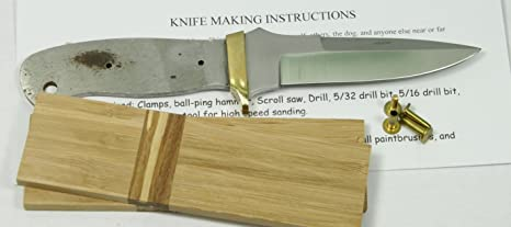 8 inch Double Edge Knife kit – Stainless Steel Knife kit – Knife Making kit  – Knife Making Supplies – Knife Making for Beginners – 440c - DIY Knife