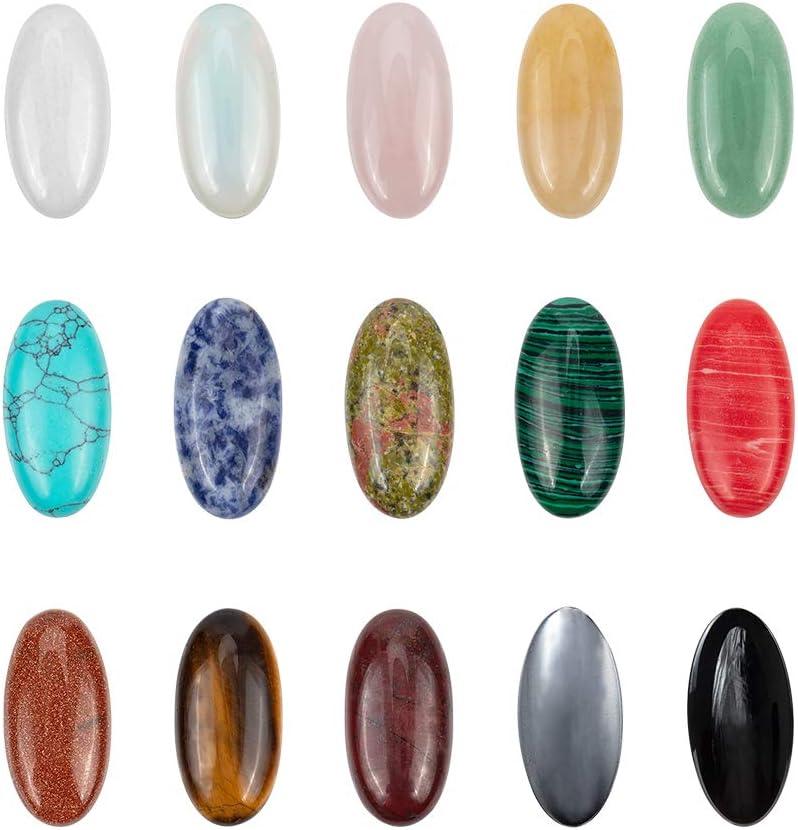 Pandahall Elite & reg - Colgante de corazón con piedras preciosas naturales, color platino