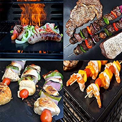 BBQ Grill Mat 5 Packs Non-stick Reusable / Barbecue Grill Mats Baking Mat Grilling For Gas Charcoal Electric Grill Accessories