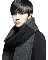 ROPALIA Winter Men Knitted Woolen Scarves Long Thick Scarf Stole Wraps Tassles