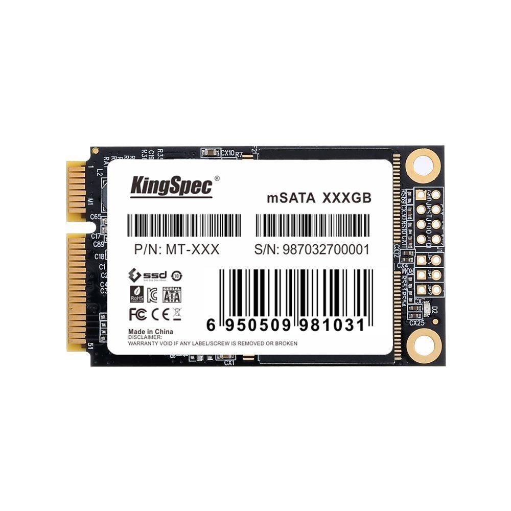 Mini PCIe KingSpec (MT-256) mSATA MLC Solid State Drive 256g